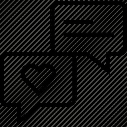 heart, love, talk, user icon