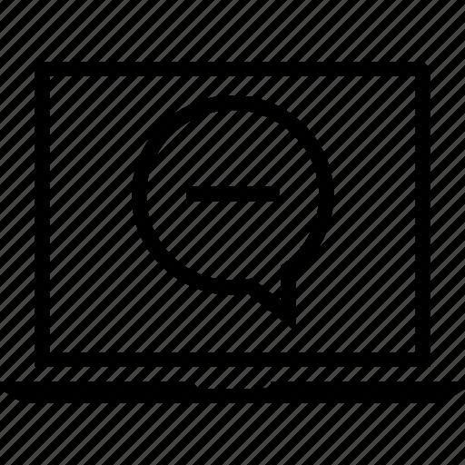 lapto, talk, user icon