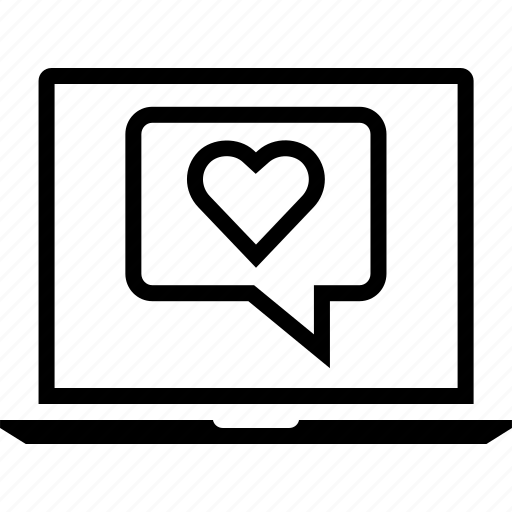 Heart, laptop, love icon - Download on Iconfinder