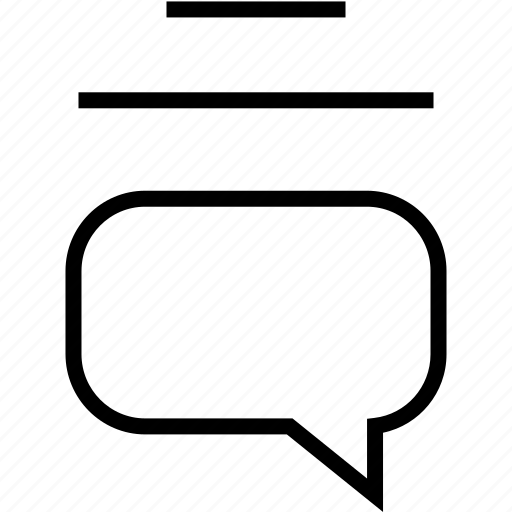 lines, message, text icon