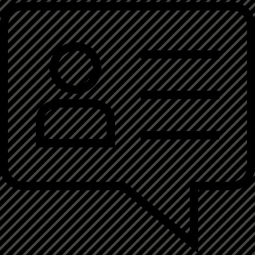 bubble, talk, user icon