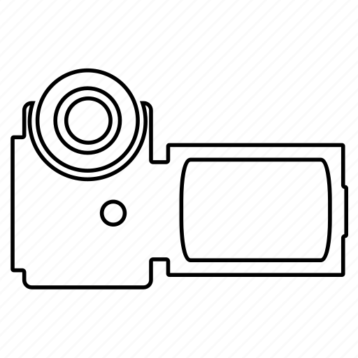 camcorder, device, footage, movie, play, technology, video icon