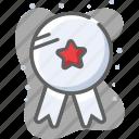 badge, prize, ribbon, trophy, winner icon