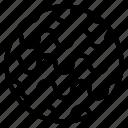 circle, random, wave icon