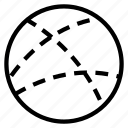 circle, dot, line, random icon