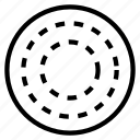 circle, dot, random, round icon