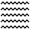 pattern, random, wave icon