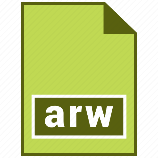 arw, extension, hovytech, image, raster file format icon