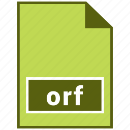 extension, file, format, hovytech, orf, raster, raster file format icon