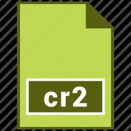 cr2, format, raster file format, type icon