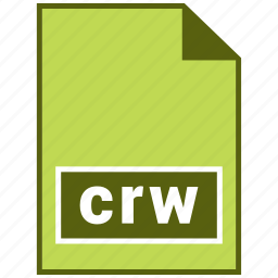 crw, extension, file, format, hovytech, raster icon