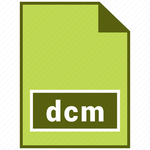 dcm, document, file, format, raster file format, type icon