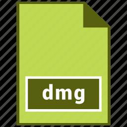 dmg, format, image, raster file format icon