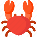 cooking, crab, fish, food, sea, seafood icon