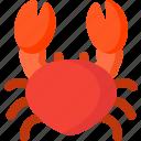 cooking, crab, fish, food, sea, seafood icon