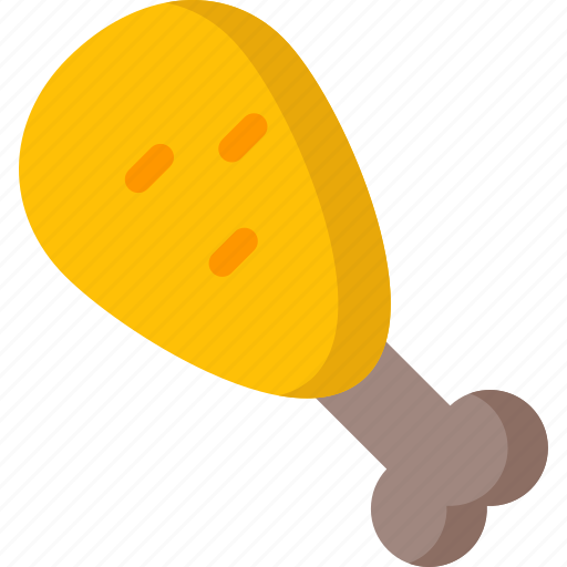 chicken, cooking, food, meal, piece, restaurant icon