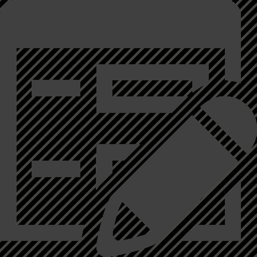 app, application, edit, form, pencil, program icon