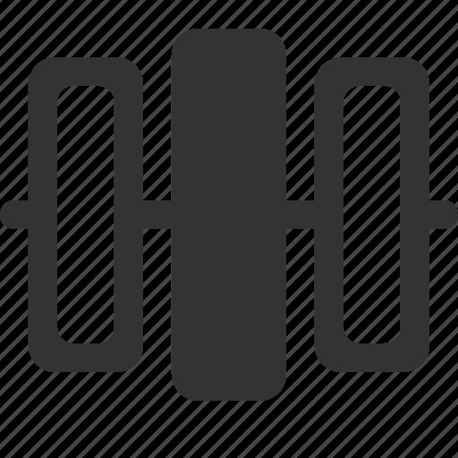 align, center, distribute, horizontally icon