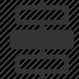 align, center, distribute, vertically icon