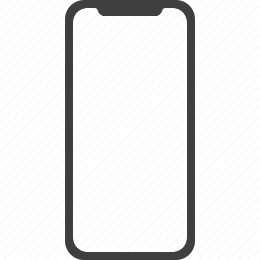 bezell, frameless, iphone, iphonex, less, phone, x icon