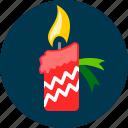 candle, christmas, flame