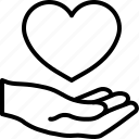 hand, heart, love icon