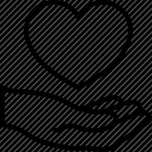hand, heart, love icon