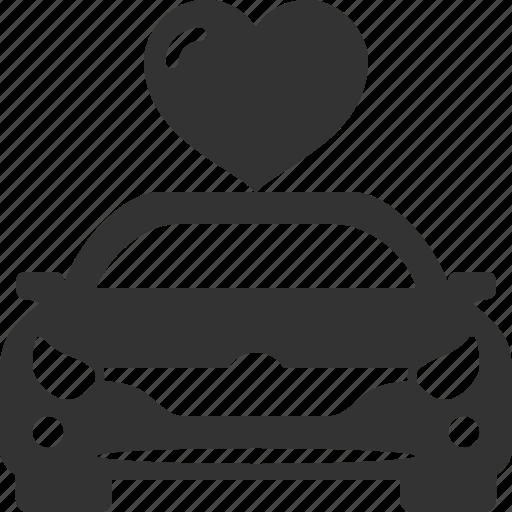 auto, car, heart, like, love, vehicle icon