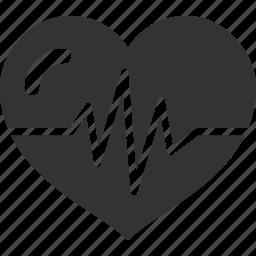 cardiogram, heart, life, like, line, love icon