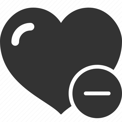 Delete, heart, like, love, minus icon - Download on Iconfinder
