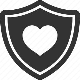 heart, love, protection, safety, security, shield icon