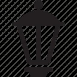 garden, green, illuminator, lamp, lantern, park, street icon
