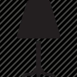 floor, illuminator, lamp, lighting, luminaire, torchere icon
