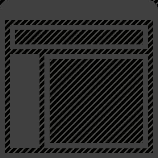 grid, layout, layuots, page, sidebar, site, window icon