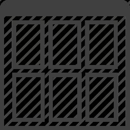 grid, layouts, layuot, page, six, view, window icon