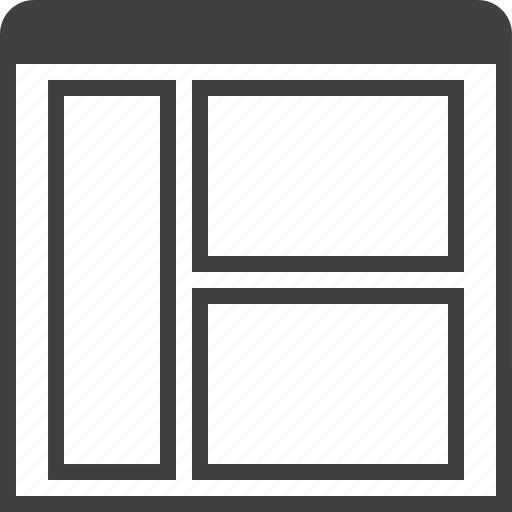 grid, layouts, layuot, mix, page, three, window icon