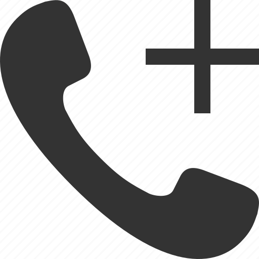 add, call, handset, phone, telephone, tube icon