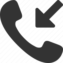 call, handset, incoming, phone, telephone, tube icon