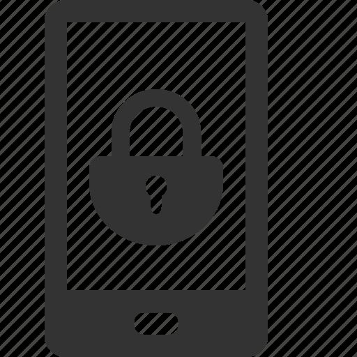 cell, internet, lock, mobile, password, phone, talk icon
