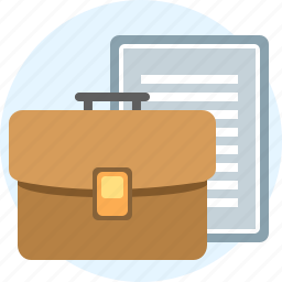 agreement, briefcase, case, contract, document, things, work icon