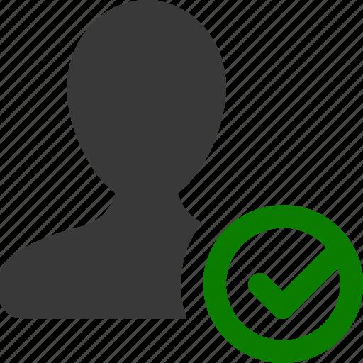 accept, check, profile, user icon