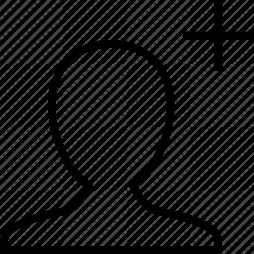 account, add, create, man, new, profile, user icon