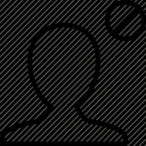 account, ban, block, boy, man, profile, user icon