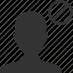 avatar, ban, black list, block, contact, man, user icon