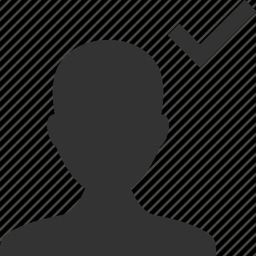 accept, account, apply, avatar, check, profile, user icon