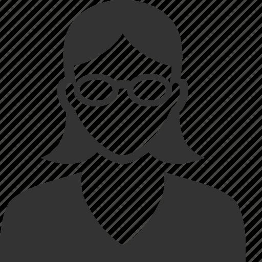 account, girl, profile, student, teacher, user, woman icon