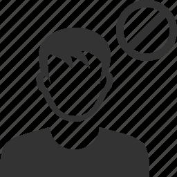 account, ban, black list, block, contact, profile, user icon