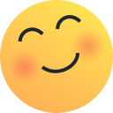 blush, emoji, emoticon, happy, joy, love, reaction icon