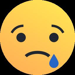emoji, emoticon, reaction, sad, tear icon