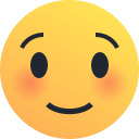 blush, emoji, emoticon, reaction, shy, smile icon